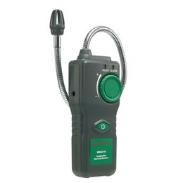 Wholesale Combustible Gas Alarm Detector - Wholesale- 2017 Original MASTECH MS6310 Portable Combustible Gas Leak Detector Natural Gas Propane Gas Analyzer With Sound Light Alarm
