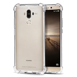 Wholesale Water Resistant Case Huawei - For Huawei mate9 Shockproof Soft TPU Gel Clear Back Case Flexibilty Transparent Silicone Cover For Huawei mate 9