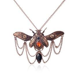 Wholesale Beetle Pendant - Wholesale-Vintage beetle pendant steampunk jewelry necklace