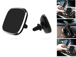 Wholesale Galaxy Air Vent - Car Magnetic Wireless Charger For Samsung Galaxy S8 S8 Plus Qi Wireless Charger Pad Air Vent Mount For iPhone 6 7Plus
