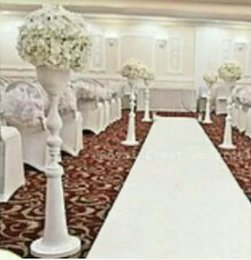 Wholesale Wedding Stands For Flowers - wholesale white metal aisle stands weddings pillars  wedding crystal walkway flower stand for weddings
