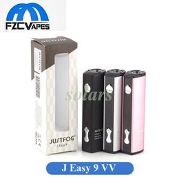 Wholesale 14 battery - Authentic Justfog J Easy 9 VV Battery Q16 Adjustable Voltage Battery 3 Colors fit Jusstfog 14 16 Series Basic Tanks 100% Original