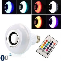 Wholesale Wireless Color Bulb - Smart Bulb E27 LED RGB Light Wireless Music LED Lamp Bluetooth Color Changing Bulb with remote Control