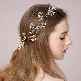 Wholesale Handmade Beaded Headbands - Fashion New Crystal Handmade Bridal Headpieces 2017 Cheap In Stock Rhinestones Beaded Wedding Hair Decorations Crystal Accessories CPA508