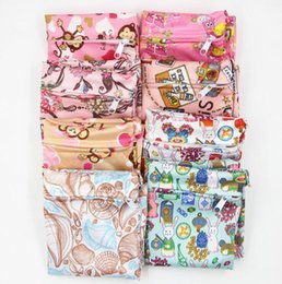 Wholesale Diaper Covers Flowers - Baby Diaper Bags Cartoon Animal Monkey Rabbit Flower Printed Zippered Bag Waterproof Wet Cloth Diaper Backpack Reusable Diaper Cover 710