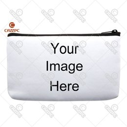 Wholesale Print Small Photos - Wholesale- Your image instagram photo Print Custom Small Cosmetic Bag Wristlet hand bag