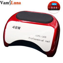 Wholesale Nail Display White - Nail Dryer 48W With LCD Display CCFL UV LED Nail Lamp for Gel Polish With 10sec 20sec 30sec Timer Manicure Pedicure Machine