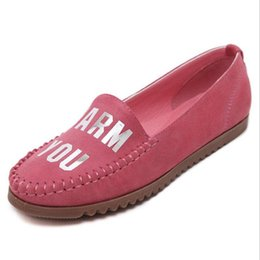 Wholesale Ladies Boat Shoes - Artificial Suede Leather Soft Round Toe Ladies Shoes Flat Spring Summer Women Flats Casual Shoes Woman Boat Shoes Women Loafers