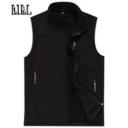 Wholesale Casual Mens Winter Vest - Wholesale- LILL | Waterproof Male Vest Men Autumn Winter Warm Tech Fleece Mens Waistcoats Softshell Casual Vests Sleeveless Jacket,UA022