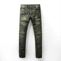 Wholesale Military Jeans - Men Brand Jeans 2017 Fear Of God Vintage Ripped La Peur De Dieu Fog 100% Cotton Jeans Occasionnels Homme Marque Overalls Jeans