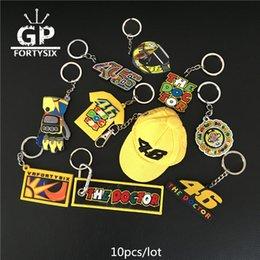 Wholesale 3d Souvenir - New 46 MOTO GP 3D PVC Rubber key ring llavero keychain for VR46 the doctor valention Rossi 46 team fans souvenir gift