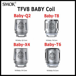 Wholesale Core Engines - Original SMOK TFV8 Baby Coil Head Replacment T8 X4 T6 Q2 Beast Coil Engine Core for H PRIV Mini 50w Kit