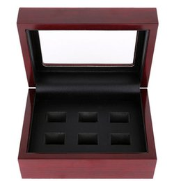 Wholesale Display Solid Wood - High Quality 3 4 5 6 Hollow World Championship Ring Set Solid Wooden Display Box (More than 10pcs DHL free shipping)