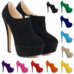 Wholesale Ladies Green Ankle Boots - Sapato Feminino New Brand High Heels Dress Party Women Shoes Ladies Womens Pumps Us Size 4-11 D0039