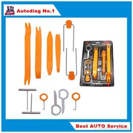 Wholesale Ford Installation - 12pcs Car Removal tools Car dvd player Kit Interior Plastic Trim Panel Dashboard Installation Removal Pry Stereo Refit