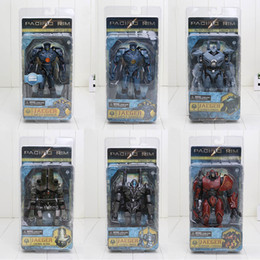 Wholesale 6pcs set inch NECA Action Figures Pacific Rim Jaeger Gipsy Danger and Battle Damage Gipsy Danger PVC Collectible Model Toy