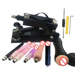 Wholesale Luxury Dildoes - Luxury Automatic Sex Machine Gun for Men and Women Love Machine with Male Masturbation Cup and Dildo 8pcs Attachments and A Free Gift