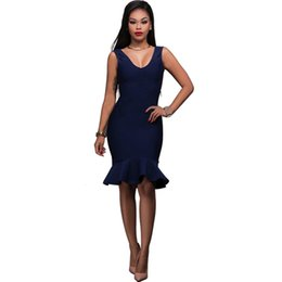 Wholesale Sexy Sun Clothes - Summer Sexy Bodycon Dress Robe Ete 2017 New Vestidos Ladies V-neck Backless Sun Party Dresses Plus Size Women Clothing