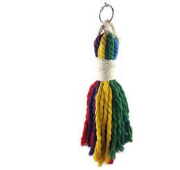 2019 catena di uccelli di plastica Animali da compagnia gabbia accessori pappagallo corda di cotone che tira giocattoli Morso di uccelli giocattoli