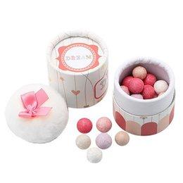 Wholesale Naked Blusher - Wholesale- Brand Women Powder Face Blush Sleek Shimmer Pink Naked Palette Blusher Ball Blush With Brush Makeup