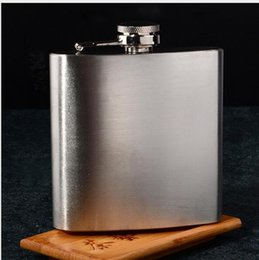 Wholesale Mini Alcohol Flask - stainless steel 6oz hip flask alcohol flask pocket 2016 HOT Silver Color Wine Flask Party Drink Hip Flask