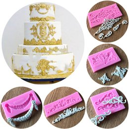 2019 décoration barbie Mayitr Vintage Relief Fleur Moule En Silicone Fondant Chocolat Moule Gâteau Bordure Décor Sugar Cake Outils De Décoration