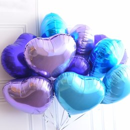 Wholesale Inflatable Balloon Heart Shape - 18 Inches Heart Shaped Foil Balloon Wedding Decoration Helium Balloon Inflatable Air Balls Party Supplies