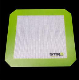 Зеленая палочка онлайн-Volcanee Оптовая большой небольшой размер антипригарным силиконовые Pad выпечки мат антипригарным зеленый цвет силиконовый коврик Dab мат Dabber коврик для курения воска