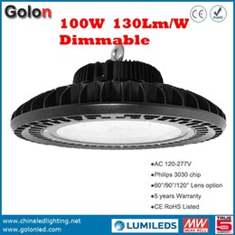Wholesale Wholesale Led Pwm - Hot sale Factory low price 130Lm W meanwell dimming driver 1-10V PWM resistance dimmable UFO high bay LED industrial light 100w