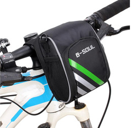 Wholesale Bicycle Bags Frame - Newest B-Soul Waterproof Handle Bar Bags Cycling Sport Bike Accessories Bicycle Frame Pannier 0.5L free shipping