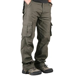 Wholesale Black Military Pants Men - Pants Men's Cargo Pants Casual Mens Pant Multi Pocket Military Overall Men Outdoors High Quality Long Trousers Plus size 30-40