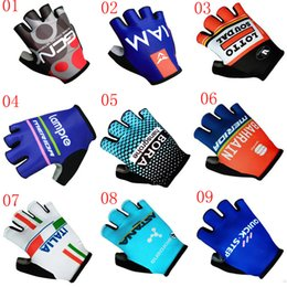 Wholesale Scott Mountain - 2017 NEW GCN BORA IAM SCOTT 3D GEL Pad Sport Glove With Half Finger MTB Bike Gloves Cycling Gloves Mountain Bicycle Gloves G2804