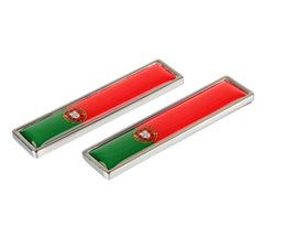 Wholesale Flags Badges - High Quality Zinc alloy Sticker Car Sticker Label Emblem Badge car styling [58x14mm] for Portugal Spain Canada Australian flag