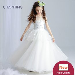 vestidos de casamento dos miúdos china Desconto Vestidos de casamento para crianças Vestido de baile Vestido de meninas pageant Vestidos de grife de alta qualidade real photo China wedding dress vestidos de casamento de praia