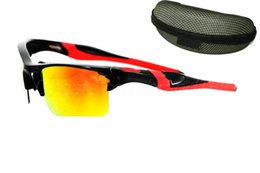 Wholesale Sunglasses Jackets - 1pcs FAST Shipping For Man Woman Hlaf Jacket Sunglass Outdoor Cycling Sports Sunglasses googel glasses WITH BOX many colors.