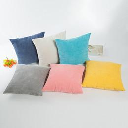 Wholesale Corn Prints - Pure Color Decor Cushion Covers Decorative Square Pillow Case Candy Color Pillow Covers Solid Corn Kernels Pillowcase Fashion Home Decor