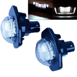 Wholesale Toyota Led License Plate Lights - 18SMD LED License Plate Lamp Light For Alphard Corolla Atis ist SCION SIENNA