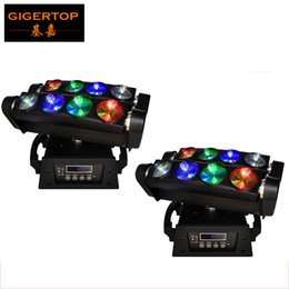 Wholesale 46 Led - Freeshipping 2pcs lot Stage Light RGBW Led Spider light Beam Effect DMX 13 46 Chs Beam Angle 3 Degree 8PCS 10W high power LED