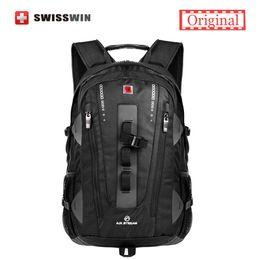 Wholesale Backpack Swissgear - Swiss Brand Backpack Men Swissgear Backpack Bag Swiss Army Black High Quality 38L Large Capacity Travel Backpack Male Mochila