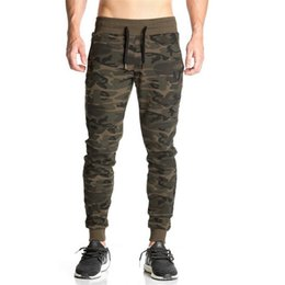 Wholesale Products Necessary - Wholesale- Autumn new products listed 2017 bodybuilding fitness joggingg pants gyms Bodybuilding necessary camouflage pants