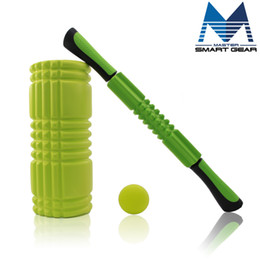 Wholesale Exercise Sticks - Wholesale-Yoga Roller Massage Stick Massage Ball Set Fitness Crossfit Therapy Gym Relax Exercise Massage Ball