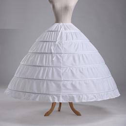 Wholesale Balls Yarn - 110-120cm Diameter Underwear Crinoline 6 Hoop Petticoat For Ball Gown Dress Wedding Accessories Wedding Dresses petticoat 2017