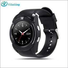 Wholesale Mp3 Phone Waterproof Watch - DHL YiSailing V8 Smart Watch phone Sim TF Card Slot Bluetooth Clock 0.3MP Camera MTK6261D SmartWatch MP3 Touch Screen for IOS Android
