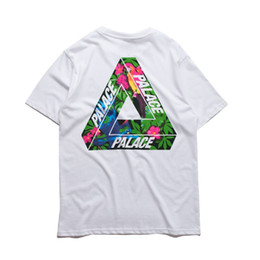 Wholesale Men Causal Shirts - Wholesale- Palace T shirt Men High Quality Palace Skateboards T-Shirts Hip Hop White 100% Cotton Summer Style Short Sleeve Causal Tee