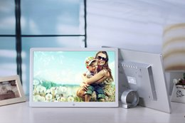 Wholesale Lcd Tft Mp4 - Digital Photo Frame HD TFT-LCD Electronic Frame Alarm MP3 4 Movie Player with Remote Desktop Free Shipping