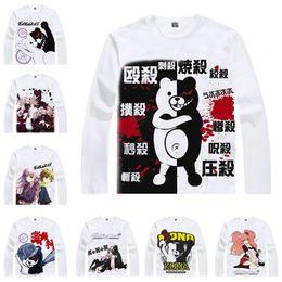 Wholesale Naegi Makoto Cosplay - Japanese Anime Shirt Danganronpa 2 T-Shirts Multi-style Long Sleeve Monokuma Naegi Makoto Cosplay Costume Kawaii Gift