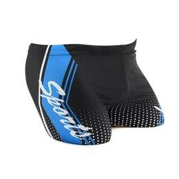 Wholesale Swimwear For Mens - Wholesale- Mens Breathable Swimming Trunks Swim Boxer Shorts For Male 2017 New Elastic Print Quick-drying Swimwear short de bain homme