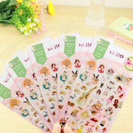 Wholesale Girls Sticker Album - 1x photo album Scrapbook decoration Kawaii girls decorative sticker children DIY Handmade Gift Card Scrapbooking Free shipping