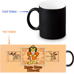 Wholesale Making Mugs - Wholesale- Hong Kong Phooey Custom Made Design Water Coffee Mug Novelty Gift Mugs Morphing Ceramic Cup 12 OZ Office Home Cups