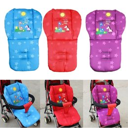 Wholesale Thick Car Seat Cushion - Wholesale- 3 Color Baby Stroller Seat Cushion New Cotton Thick Baby Pushchair Stroller Car Seat Cushion Mat Chair Pad